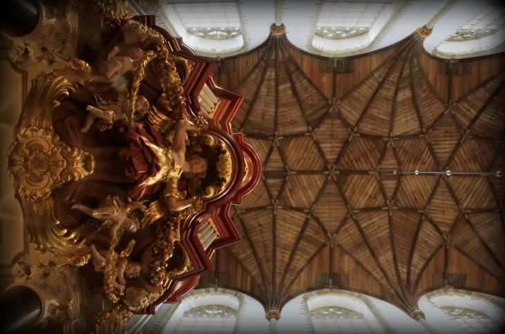 Haarlem, Orgel van de St. Bavo, onderaanzicht